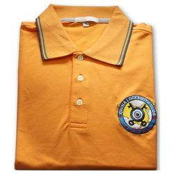 China Locksmith Club Twelve Anniversary Edition Business Casual Orange T Shirt Size (XL) HH29901006